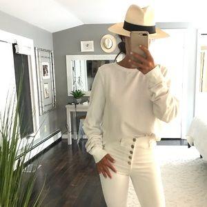 Wildfox white jumper sweatshirt size small